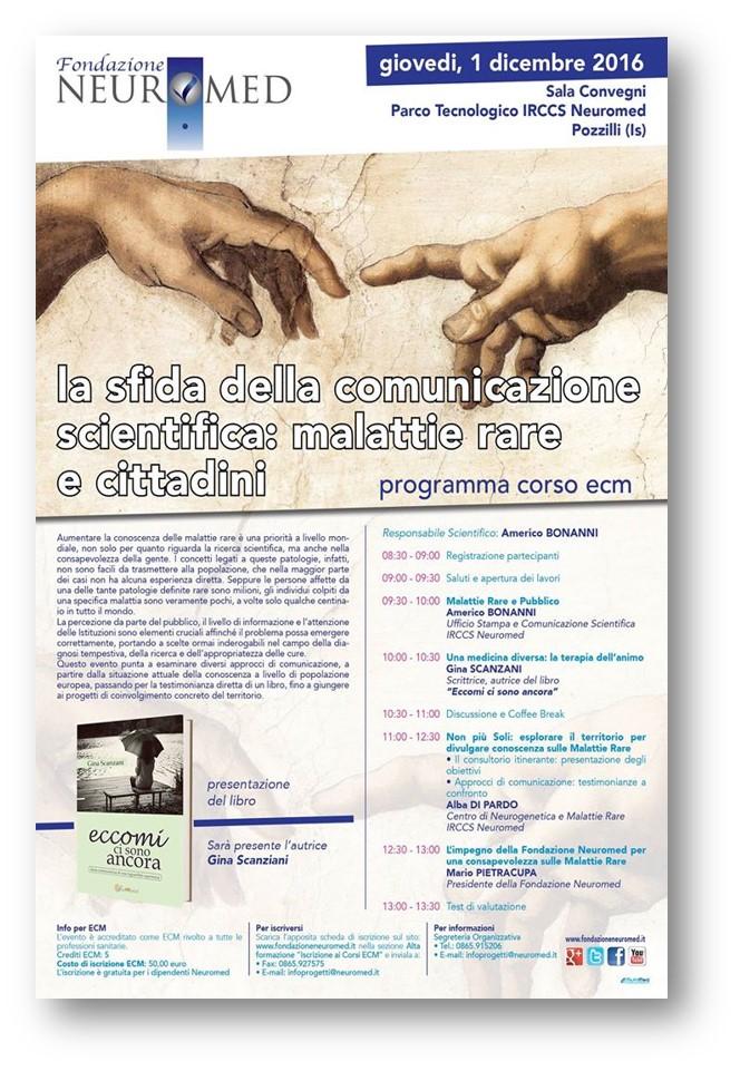 01.12.2016 CORSO ECM COMUNICAZIONE SCIENTIFICA E MALATTIE RARE