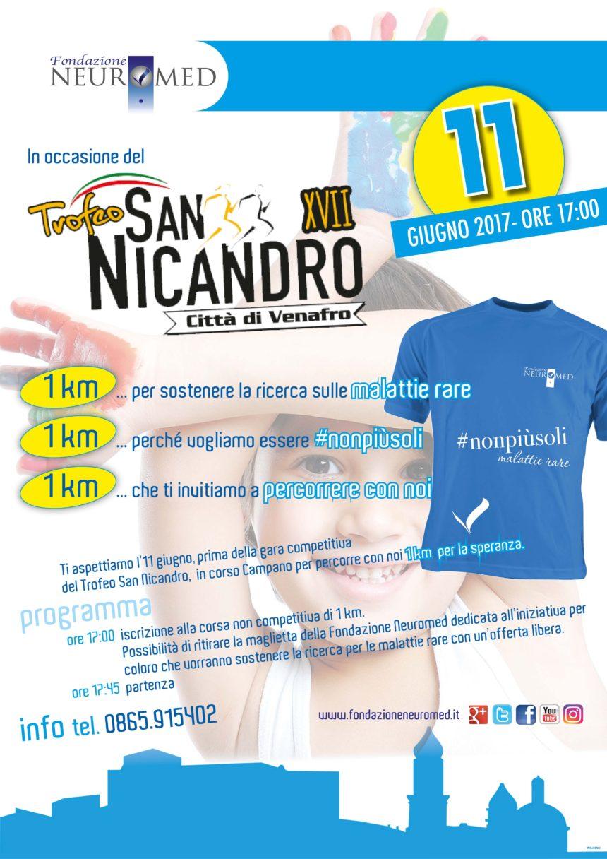 Trofeo San Nicandro: percorri con noi 1 km di speranza per essere #nonpiùsoli