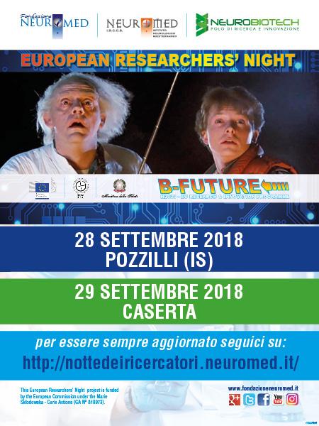 24 – 29 settembre 2018: Notte dei ricercatori 2018: B-Future!